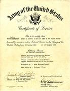 Joseph Porter's Certificate of Service
